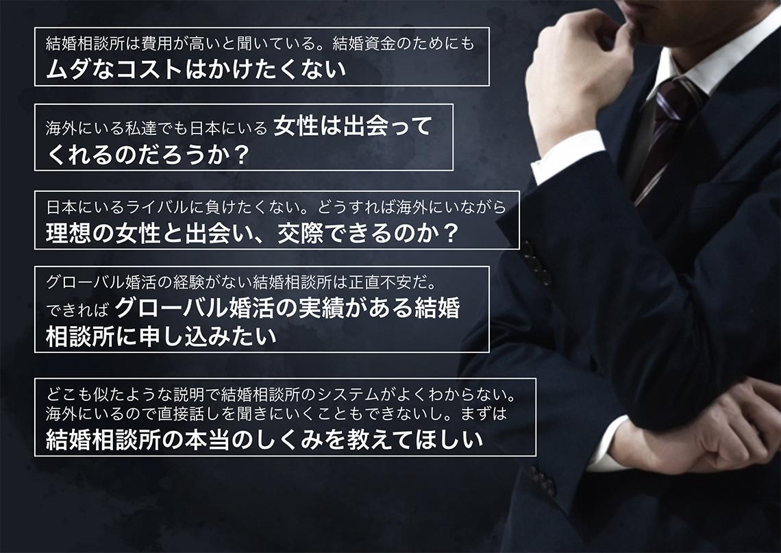 結婚相談所・グローバル婚活への疑問6つ